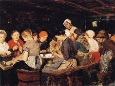 The Athenaeum - The Preserve Makers (Max Liebermann - ) New Objectivity, Berlin, Museum, Art Academy, Kitchen Art, Artist Painting, Les Oeuvres, Preserves, Food Art