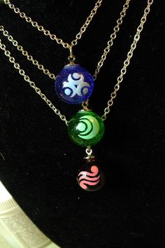 Glass Pendant of Virtue Pendant Necklace Inspired by a Link to the Past choice of one by GeekOUTlet, $18.00