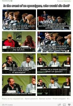 For some reason, this made me think about Mark Sheppard's life and the fun it must be working with ALL THE FANDOMS!!!