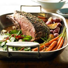 Sunday Beef Rib Roast From Better Homes and Gardens, ideas and improvement projects for your home and garden plus recipes and entertaining ideas.