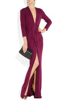 ROLAND MOURET  Compeyson zip-front stretch-crepe gown - sexy but not slutty!