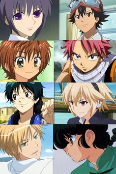 Some cute boys from the best anime