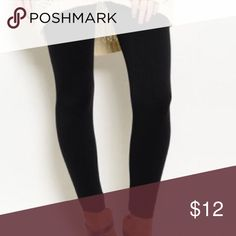 """New with tags black fleece lined leggings These are the most comfortable leggings I have ever bought! This is for black. They are high waisted for a great slimming fit. 92% NYLON 8% SPANDEX. High waisted and Fleece lined to keep you toasty while on trend. One size fits 0-14. Best for 5'8"""" or under and 180 pounds or under based on vender standards. Hand wash and hang dry is suggested. Seamed boutique Pants Leggings"""