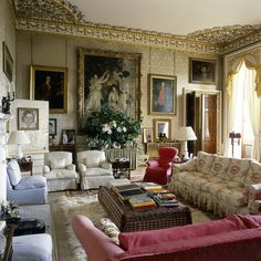 Home Design Drawing Chatsworth House drawing room, North Derbyshire, England English Interior, Classic Interior, Interior Exterior, Interior Design, Interior Ideas, Estilo Interior, English Country Decor, Country Style, Country Living