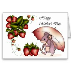 Shop Happy Mother's Day with little mouse strawberries Holiday Card created by moonlake. Mother's Day Greeting Cards, Happy Mothers Day, Paper Texture, Strawberries, Holiday Cards, Birthday Cards, Friendship, Prints, Color