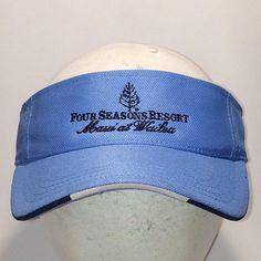 Vintage Visors For Men Women Sun Visor Hat Blue Sports Hats Beach Vacation  Caps Four Seasons Resort Maui at Wailea Golf Visor T112 MA8147 fabaf94dbb0c