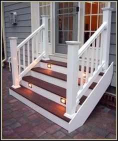 Deck Stairs To Patio Front Porches 60 Ideas Patio Steps, Front Porch Steps, Outdoor Steps, Front Porch Design, Front Deck, Patio Design, Front Porches, Patio Ideas With Steps, Steps For Deck