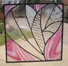 Stained Glass Heart  Love is Clearly Pink by VFSGlass on Etsy, $90.00