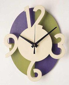 Wall Clock: Emi Ozawa: Wooden Clock - Artful Home