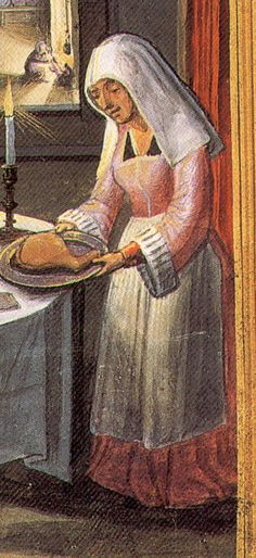 Simon Bening, The DaCosta Hours, 16c.  (detail from the month of January)