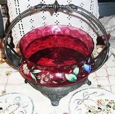 Antique VICTORIAN Silver Plate Pairpoint Brides Basket ...