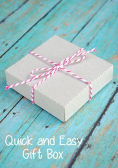Shoebox Crafts : DIY Easy Gift Box
