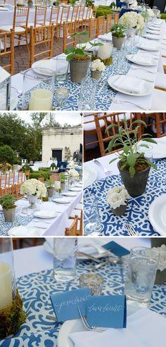 Blue and white wedding colors - Savannah GA wedding