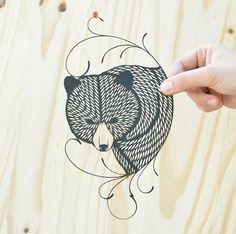 original papercut by bird mafia. Xacto only; no laser cut!