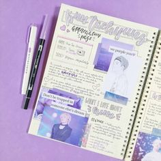 17 Stunning purple bullet journal layout ideas is part of Organization Journal Smash Book - We have rouded up the 17 most amazing purple bullet journal layout ideas from September I can'y wait for you to see these one because Bullet Journal 2019, Bullet Journal Tracker, Bullet Journal Spread, Bullet Journal Layout, Bullet Journal Ideas Pages, Bullet Journal Inspiration, Journal Pages, Journal List, Music Journal