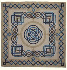 """Celtic Knot quilt by Fran Kordek: """"First Two, Then Four, Now Two Again"""", 42 x Schönheit iDeen ? Patchwork Patterns, Quilt Block Patterns, Quilt Blocks, Crochet Patterns, Quilting Projects, Quilting Designs, Longarm Quilting, Embroidery Designs, Celtic Quilt"""