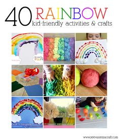40 Rainbow Kid Friendly Activities and Crafts {seevanessacraft}