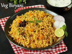 Veg biryani recipe | How to make vegetable biryani - Swasthi's Recipes