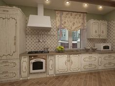 Кухня - гостиная а-ля ДЕ ПРОВАНС. Кухня