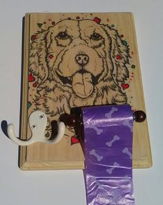 Every dog needs one thing, a leash for their owners to walk them! Where do you hang the leash after your walk? Why not have a place that is creative and functional for your leash!  My Dog Leash Holder is the perfect place to hang your dogs leashes and your keys. It also comes with a waste bag dispenser that allows you to easily tear off a bag to clean up after your pet.  All artwork is hand drawn with professional art pens and markers. Once an order has been made and payment has been…