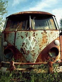 old rusty VW, very cool                                                                                                                                                                                 More