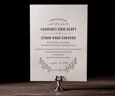 Eco-Friendly Letterpress Wedding Invitations - Bella Figura | Oh So Beautiful Paper