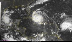 #Media #Oligarchs #MegaBanks vs #Union #Occupy #BLM #SDF #Humanity  Truly staggering image: Hurricanes #Katia making landfall in #Mexico, #Irma in #Cuba as #Jose builds in #Caribbean.  https://twitter.com/WilliamsJon/status/906368107437891585