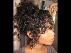 Natural Curly Hair Messy Bun