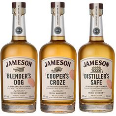 Jameson's The Whiskey Makers Series consists of three expressions created by the brand's head blender, head distiller and head cooper