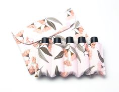 Essential Oil Pouch, Essential Oil Roller Bottles Bag, Essential Oil Bag, Essential Oil Case, Essential Oil Storage, Eucalyptus flowers