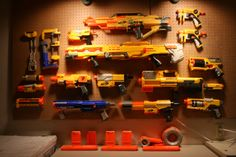 Nerf gun arsenal... You never know when you might need that.