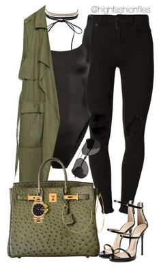 """""""Untitled #2650"""" by highfashionfiles on Polyvore featuring (+) PEOPLE, Norma Kamali, Charlotte Russe, Zara, Hermès, Rolex, Phyllis + Rosie, Yves Saint Laurent and Giuseppe Zanotti"""