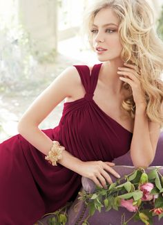 Bridesmaids and Special Occasion Dresses by Jim Hjelm Occasions - Style jh5403 in burgundy