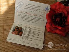 Passport Wedding Invitation.