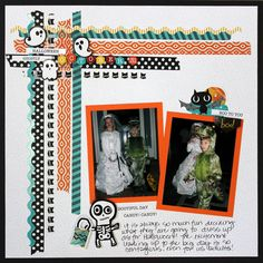 Here's 3 ways to use Washi tape on your scrapbook layouts and cards for Halloween. See how to use Creative Memories Toil & Trouble Halloween collection. Paper Bag Scrapbook, Scrapbook Storage, Scrapbook Journal, Scrapbook Sketches, Scrapbook Page Layouts, Scrapbook Supplies, Scrapbook Cards, Photo Layouts, Scrapbook Organization