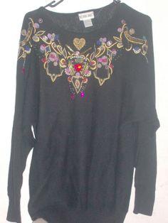 Vintage Victoria Jones black jeweled heart by PatsapearlsBoutique, $39.99