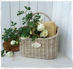 """Корзины, коробы ручной работы. Ярмарка Мастеров - ручная работа. Купить """"Цветущий сад"""" Корзинка плетеная. Handmade. Корзина плетеная"""