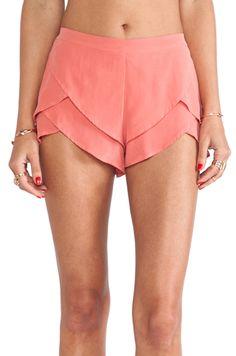 Coral tulip shorts