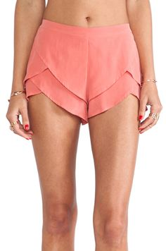 Coral tulip shorts...to me it's a cross between a running short (which I wear a lot of) and a dress short (what I should wear more of)