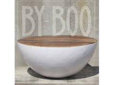 Afbeeldingsresultaat voor houten salontafel rond