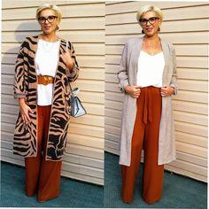 Брюки палаццо: 12 модных образов | Стильно - не значит дорого! | Яндекс Дзен Pantalon Large, Over 50 Womens Fashion, New Look, Stylists, Kimono Top, Plus Size, Elegant, My Style, Pants