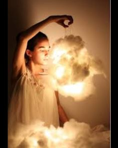 DIY 3D clouds will be a nice surprise for Victorias slumber party!