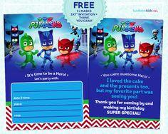 Luvibee Kids Company: PJ Masks Invitation Printable - FREE!
