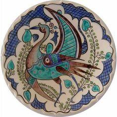 Persian Pattern, Persian Motifs, Turkish Art, Turkish Tiles, Ceramic Plates, Ceramic Pottery, Ethnic Patterns, Vintage Plates, Victorian Art