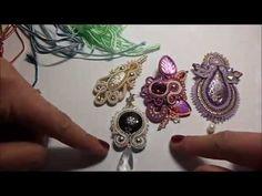 TUTORIAL SOUTACHE: rifiniture - YouTube                                                                                                                                                      Más Tutorial Soutache, Soutache Pattern, Earring Tutorial, Soutache Pendant, Soutache Jewelry, Beaded Jewelry, Handmade Jewelry, Shibori, Beading Tutorials