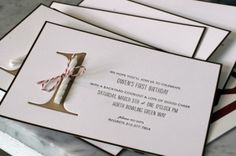 first birthday party invitations with a single candle. by ronisilver