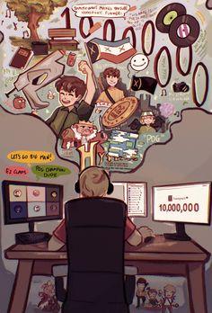 Team Wallpaper, Dream Friends, Minecraft Fan Art, Fandoms, Just Dream, Art Memes, Dream Art, Dream Team, Streamers