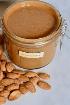 It takes just 15-20 minutes, and ONE ingredient to make this smooth, creamy homemade almond butter - refined sugar0free, hydrogenated oil-free, cheaper, and tastier than store-bought! Homemade Almond Butter, Raw Almond Butter, Almond Pulp, Vegan Peanut Butter, Blender Food Processor, Food Processor Recipes, Beet Salad Recipes, Speed Foods, Raw Almonds