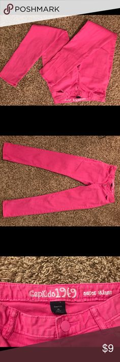 Gap skinny jeans, Girls 14 Gap Super skinny Hot pink Jeans Girls size 14 Awesome item! GAP Bottoms Jeans