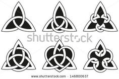 Celtic Triangle Knots - Six varieties of endless basket weave knots used for decoration or tattoos